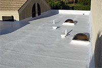 are spray foam roofs protected against arizona