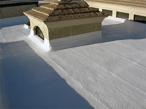 allow small hvac units on spray foam roof