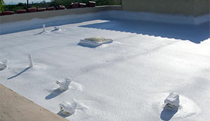 repaired foam roof on phoenix building